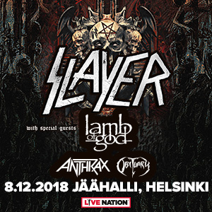 Slayer – Final World Tour, + Special Guests: Lamb Of God, Anthrax, Obituary